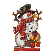<AMANO>【クリスマス】【木製オブジェ】木ボード小・スノーマン
