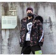 秋冬新作メンズコート トップス防寒 迷彩 おしゃれ♪ブラック/グレー2色