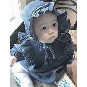 ★ロンパース 赤ちゃん服★ベビーちゃん 長袖オーバーオール★デニム 帽子付き