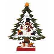 <AMANO>【クリスマス】【木製ツリー】木製ツリー小・スノーマン