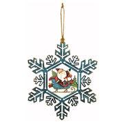 <AMANO>【クリスマス】【木製オブジェ】スノーフレークウォールデコ・サンタ