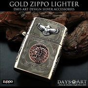 good vibrations Zippoライター イーグル ネイティブアメリカン インディアン 真鍮無垢