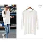 【大きいサイズL-4XL】【秋冬新作】ファッションTシャツ♪全4色◆