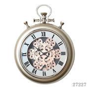掛け時計 ギア Sサイズ Φ31cm シャンパン