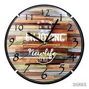 掛け時計 カバー付きウォールクロック Φ25cm ENJOYING