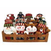 <AMANO>【クリスマス】【マスコット】X'masマスコット4種12個セット・木箱入り