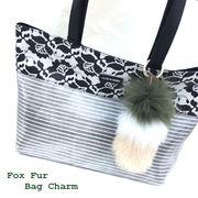 【服飾雑貨】【バッグチャーム】フォックス3色ボーダーキーホルダー&バッグチャーム