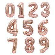 数字 アルミニウム膜風船 ロックgold 数字 0 - 9 アルミ箔球 誕生日 周年の祭典
