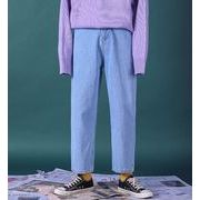 秋冬新作メンズジーンズ パンツ シンプル おしゃれ♪ライトブルー/ブラック2色