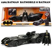 1989 BATMAN BATMOBILE W/BATMAN【バットモービル】【JADA ミニカー】
