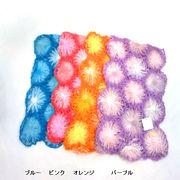 【超特激安商品】【ストール】手編み細糸花モチーフつなぎマフラー