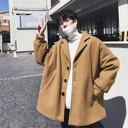 秋冬 ファッション メンズ ツイードコート カジュアル シンプル トレンチコート アウターチェスターコート