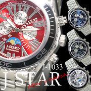 メンズクォーツ ムーンフェイス ウォッチ◇Men's watch◇腕時計 -J-star☆- J-1033