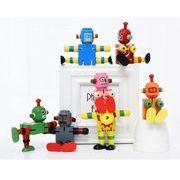 児童 木 朝礼のおもちゃ 創意 个性 積木玩具 木造 変形 弾性ロボット