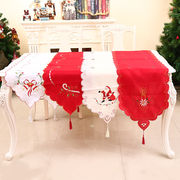 刺繍 クリスマス テーブルランナー コーディネート クリスマス用品 飾り