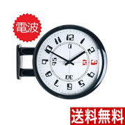 電波両面時計 A4(BK)