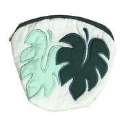 ハワイアンキルト Hawaiian Quilt  モンステラコインケース ライトグリーン×グリーン