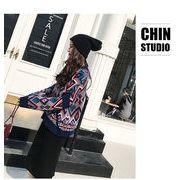 秋冬新商品730378 大きいサイズ 韓国 レディース ファッション  セーター パーカー  3L 4L 5L