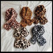 韓国 スタイル レディース ファッション小物 カラー豊富 レオパード柄 編み織 ネックウォーマー