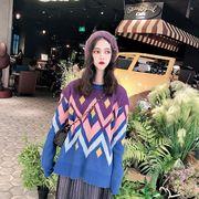 秋冬新商品730377 大きいサイズ 韓国 レディース ファッション  セーター パーカー  3L 4L 5L