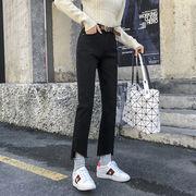 秋冬新作730371 大きいサイズ 韓国 レディース ファッション  ジーパン 3L 4L 5L