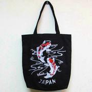 和柄トートバッグ 錦鯉 コットンバッグ 日本のお土産