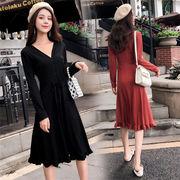 2018新品 大人気  韓国ファッション  CHIC気質  ニット  ワンビース
