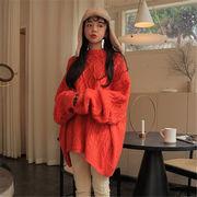 韓国 スタイル 秋 冬 ファッション ハングルセレブstyle カジュアル ニット 編み織 セーター