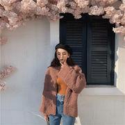 買い逃し注意  韓国ファッション  CHIC気質  ゆったりする  ウールコート