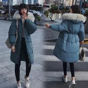 2018秋冬最新作大人気韓国   韓国ファッション 気質  ルーズ   中・長セクション 綿入れダウンコート