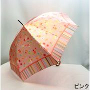【日本製】【雨傘】【長傘】アトリエ21ブリティッシュガーデン小花柄ジャンプ傘