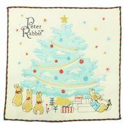 【ハンドタオル】ピーターラビット 刺繍ハンドタオル/クリスマスツリー