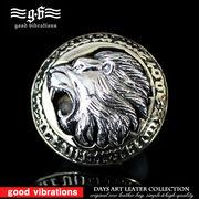 good vibrations グッドバイブレーション コンチョ シルバーコンチョ ライオン 獅子 ブラス 真鍮