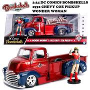 1:24 DC COMICS BOMBSHELLS 1952 CHEVY COE PICKUP & WONDERWOMAN ミニカー