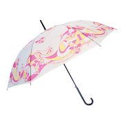 [58cm]可愛い柄ビニール傘 ジャンプ式 婦人 レディース マーブルコスメ柄