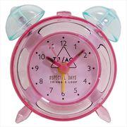 【目覚まし時計】SHINEY CLOCK アラームクロック/ピンク