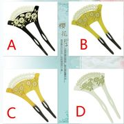 新型のアクリル菊の花の簪 和風古風なかんざし漢服和服アクセサリー