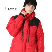 ダウンジャケット メンズ アウター 軽量 防寒 迷彩 柄 カモフラージュ 黒 赤 青 大きいサイズ