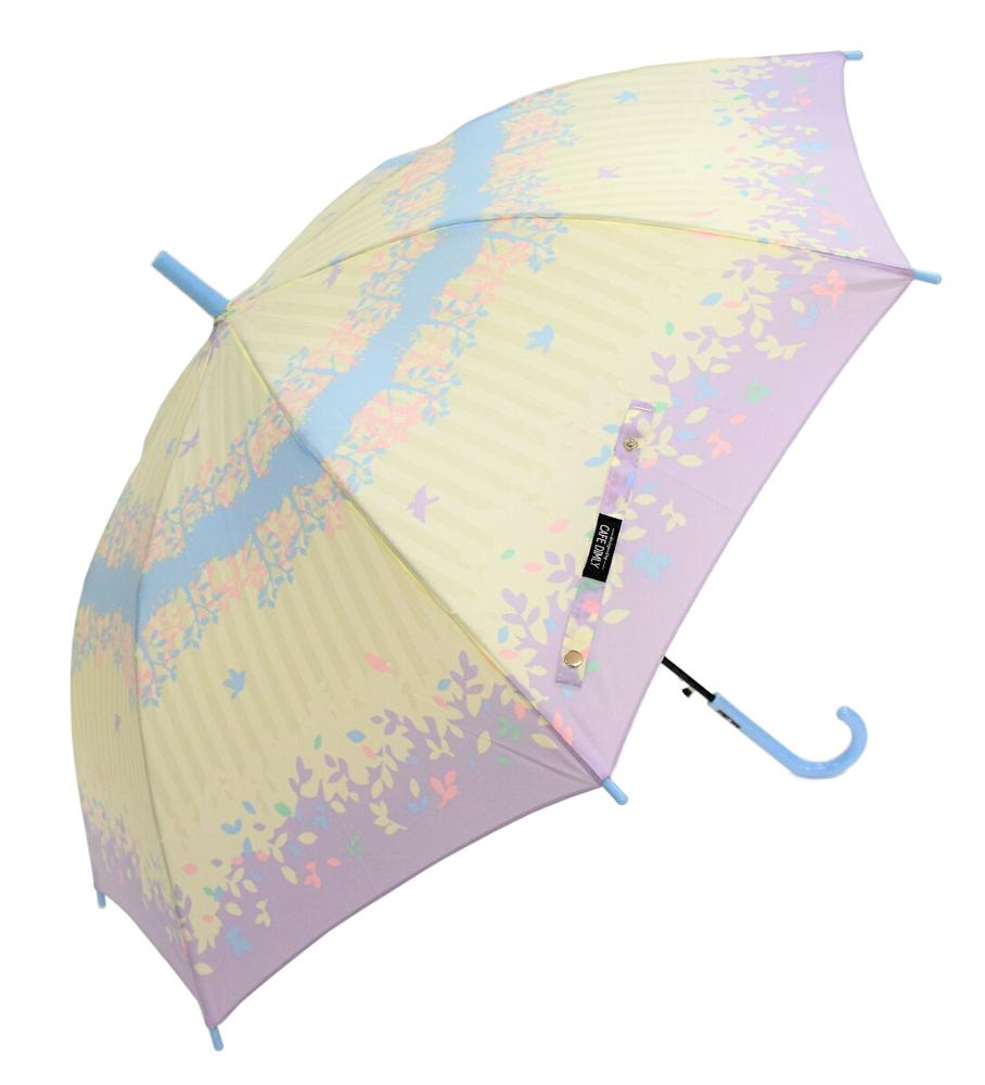 親子でお揃いレディース&キッズ傘 【フォレストバードPU】 55cm