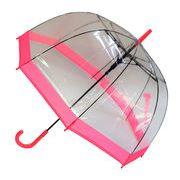 レディースビニール傘 【バイカラーPK】 60cm