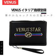 セカンドバッグ クラッチバッグ 高級 手持ち鞄 ブラック メンズ 「VENUS イタリア商標登録」