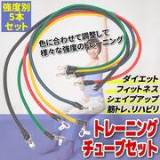 エクササイズチューブ フィットネスチューブ トレーニングチューブ 弾性ラテックスチューブプル