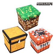 Minecraft マインクラフト おかたずけ箱 スツール 30×30×30 フタ付 収納 【全3種】