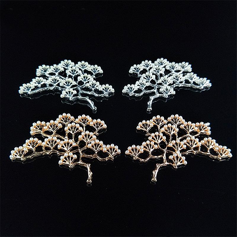アクセサリーパーツ 松の枝 ハンドメイドパーツ DIYチャーム