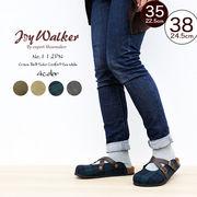 【joy walker】レディースサイズ クロスベルト スリッポン 3色