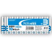 72個セット HIDISC アルカリ乾電池 単3形10本パック HDLR6/1.5V10P