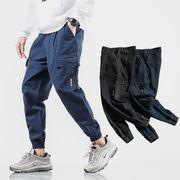 初春新作メンズパンツ ズボン大きいサイズ ゆったり おしゃれ♪ブルー/ブラック2色