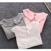 春新作★ベビー キッズ服★Tシャツ インナーシャツ 可愛いトップス 長袖 3色