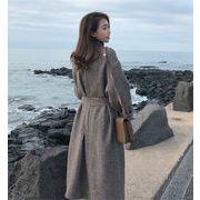 韓国ファッション 女性美up↑ ロングセクション   2019新品  秋冬  ゆったり  ウールコート