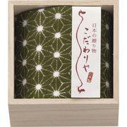 こだわりや 木箱入り日本製ガーゼタオルハンカチ グリーン KDK501GR